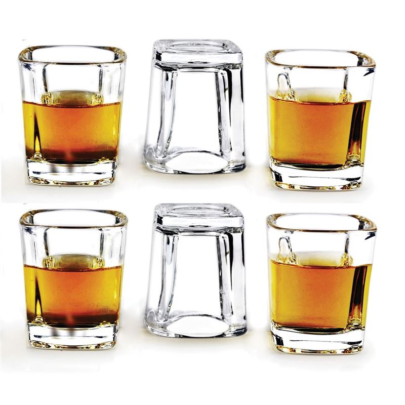 Circleware – Swanky 60ml Glass Shot Glasses Set of 6