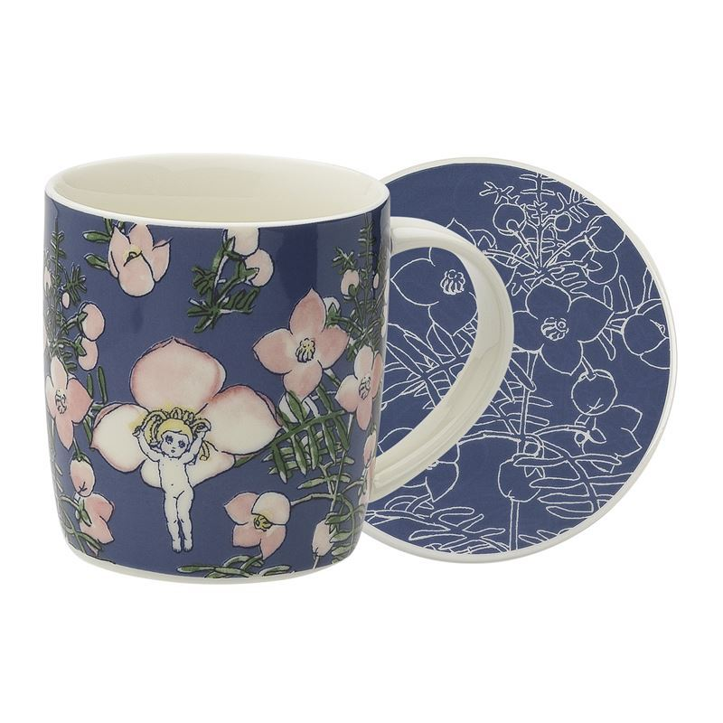 May Gibbs by Ecology – Bone China Flower Babies Blue 320ml Mug and Coaster