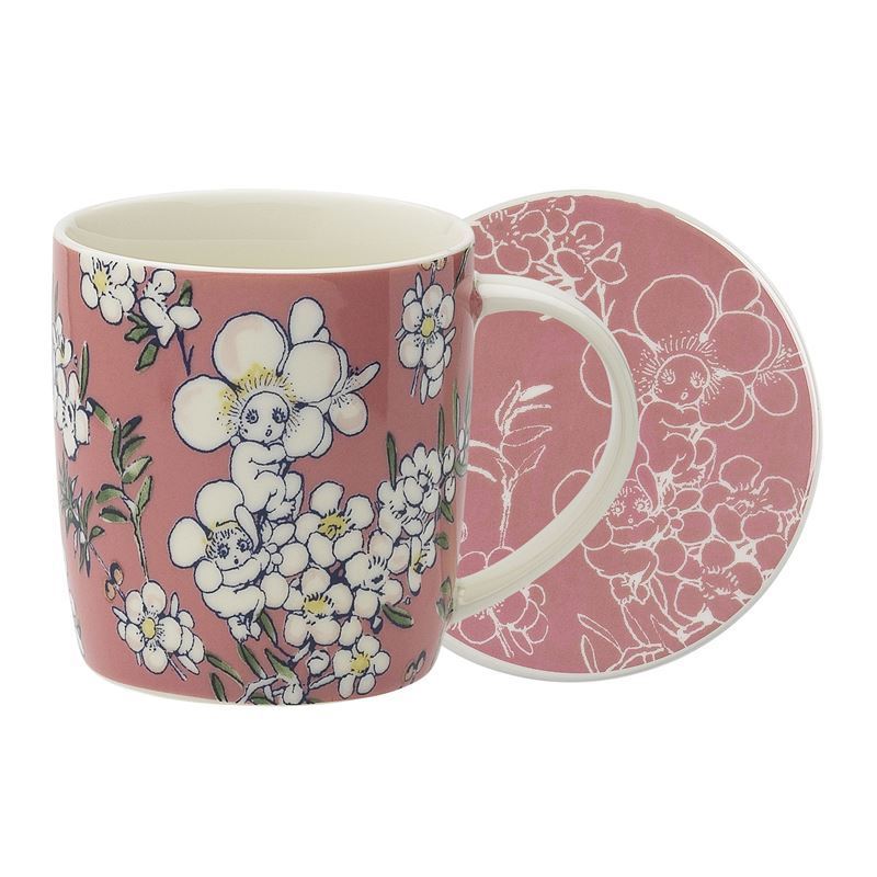 May Gibbs by Ecology – Bone China Flower Babies Pink 320ml Mug and Coaster