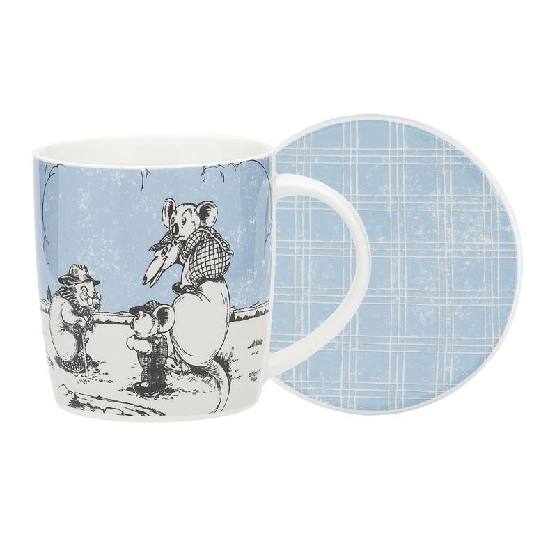 Blinky Bill by Ecology – Bone China 320ml Mug with Coaster Blue