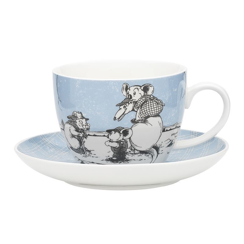 Blinky Bill by Ecology – Bone China 430ml Big Cup and Saucer Set Blue