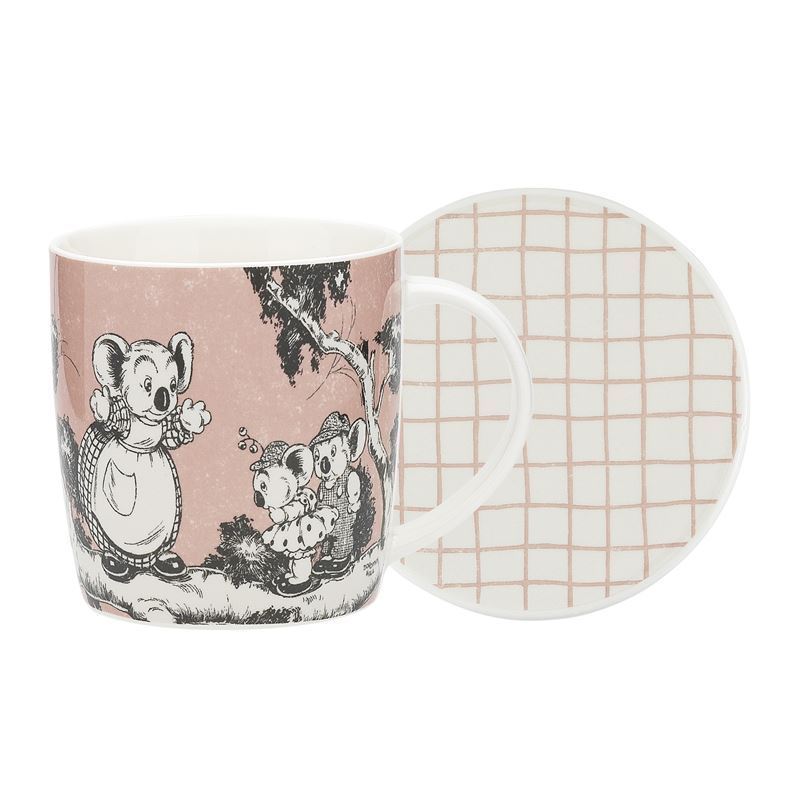 Blinky Bill by Ecology – Bone China 320ml Mug with Coaster Coral
