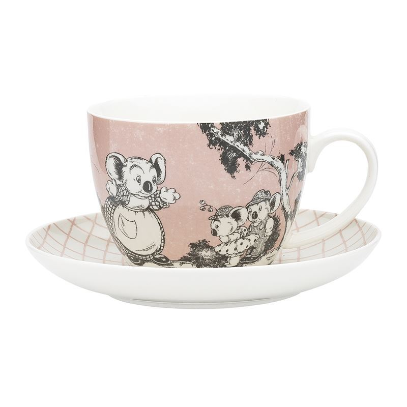 Blinky Bill by Ecology – Bone China 430ml Big Cup and Saucer Set Coral