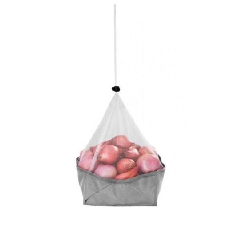 Metaltex – Mesh Foldable 3 in 1 Single Storage Basket Large 23cm