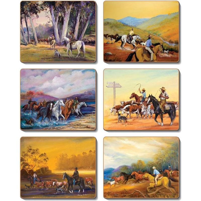 Cinnamon – Man from Snowy River Placemat 28.5×21.5cm Set of 6