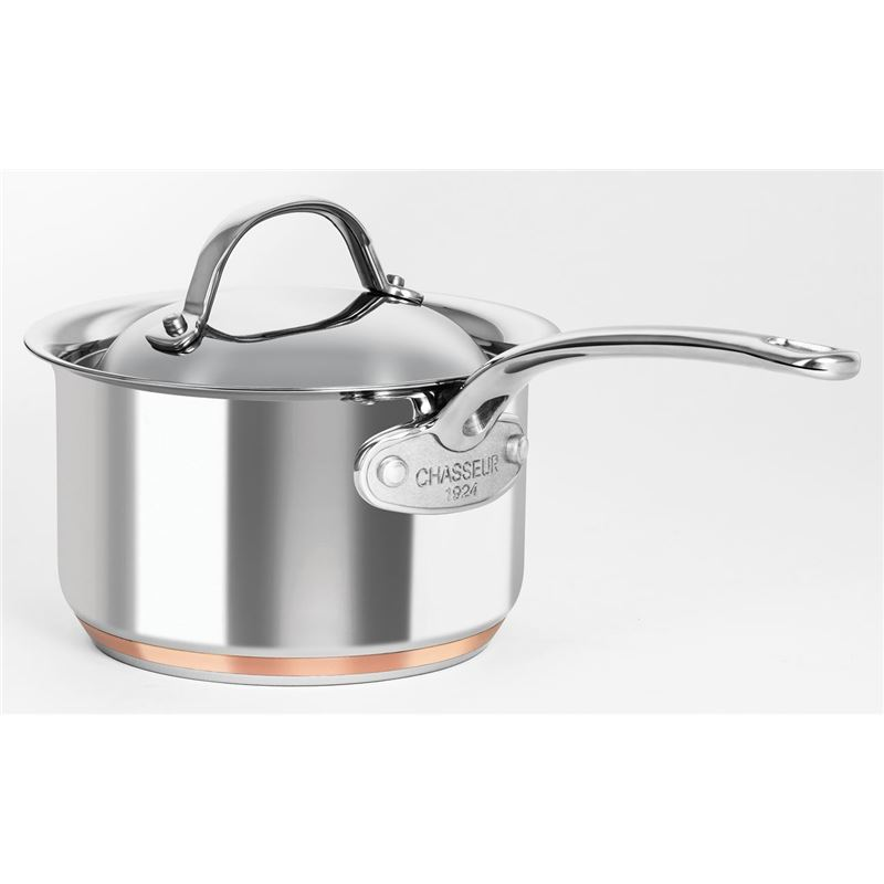 Chasseur – Le Cuivre 16cm 1.9Ltr Stainless Steel Copper Based Saucepan with Lid