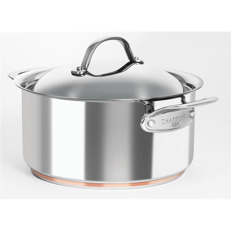 Chasseur – Le Cuivre 24cm 5.2Ltr Stainless Steel Copper Based Casserole with Lid