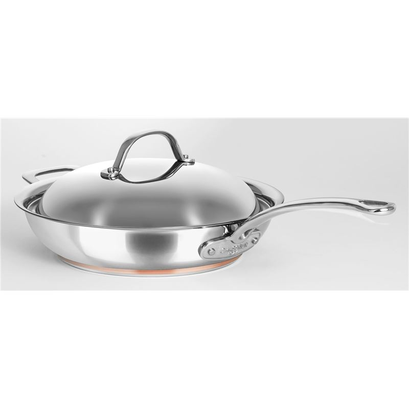 Chasseur – Le Cuivre 28cm Stainless Steel Copper Based Saute Pan with Lid