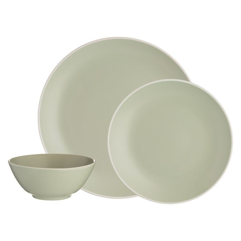 Mason Cash – Classic 12Pc Stoneware Dinner Set Green