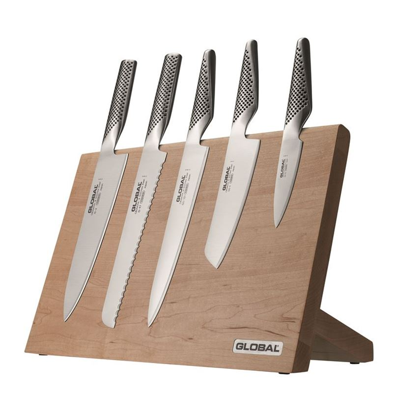Global – Takumi Maple6 piece Professional Knife Block Set (Made in Japan)