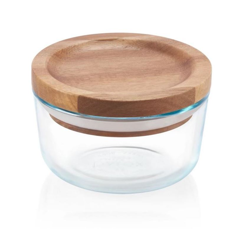 Pyrex Wooden Storage 1 Cup with Lid 200g