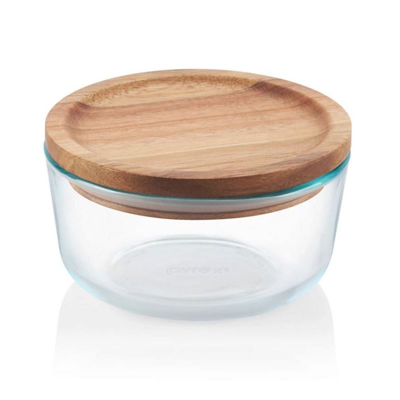 Pyrex Wooden Storage 4 Cup with Lid