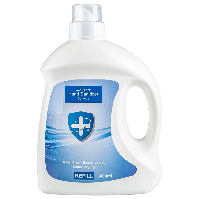 Wash Free – 70% Alcohol Gel Hand Sanitiser 3Ltr Refill Bottle