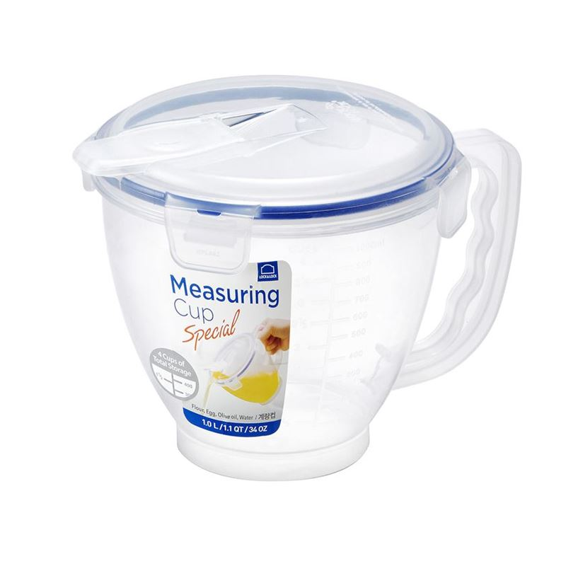 Lock & Lock – Classic 4 Cup Measuring Cup with Flip Lid 1Ltr