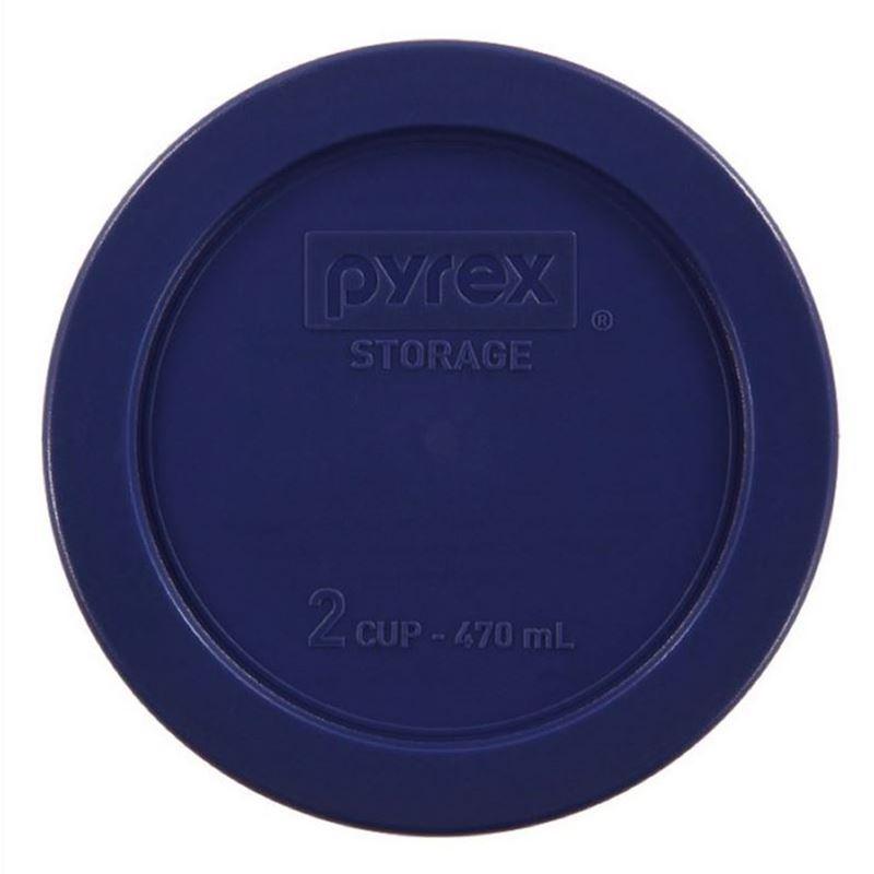 Pyrex – 2 Cup ROUND Plastic Lid Blue