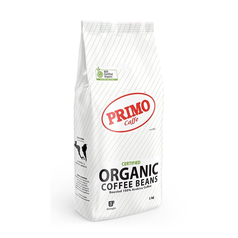 Primo – Certified Organic Coffee Beans 1Kg