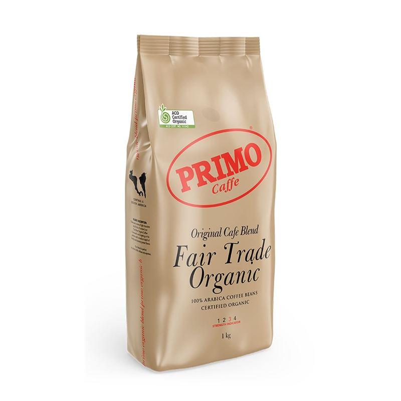 Primo – Original Cafe Blend Fair Trade Organic Beans 1kg