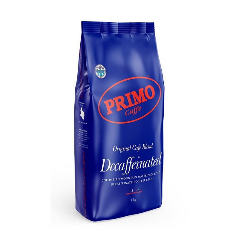 Primo – Colombian Mountain Decaf Coffee Beans 1Kg