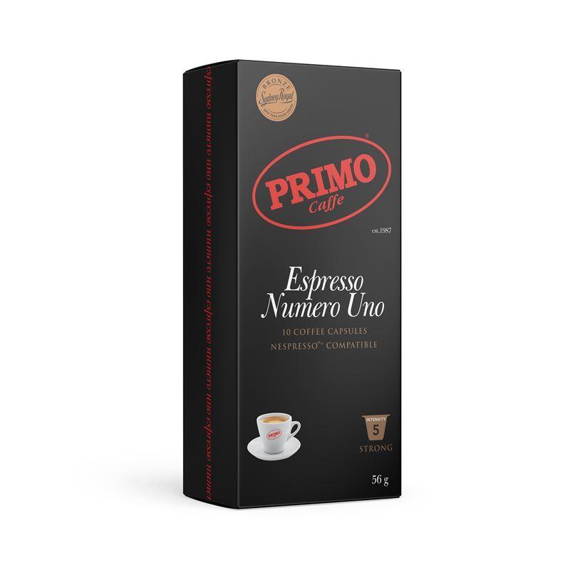 Primo – Espresso Numero Uno Capsules 10 Pack