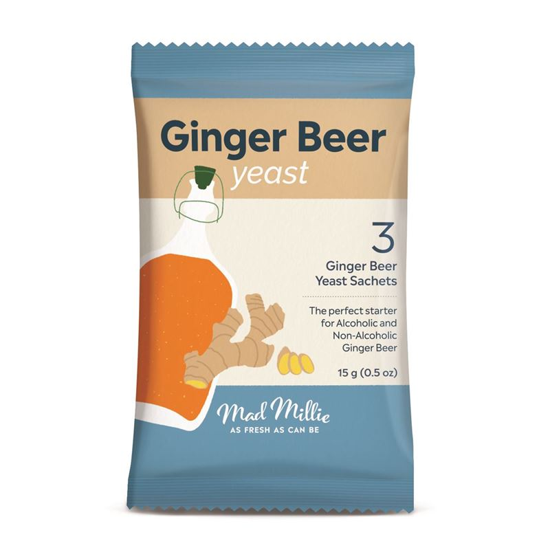 Mad Millie – Ginger Beer Yeasts Pack of 3