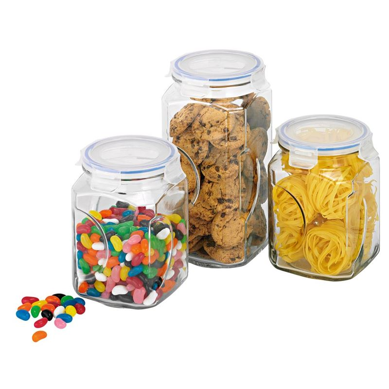 Glasslock – 3pc Glass Canister Set