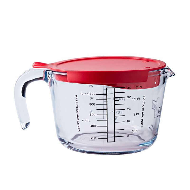 O'Cuisine – Glass Measuring Jug 4 Cup 1Ltr with Lid (Made in France)