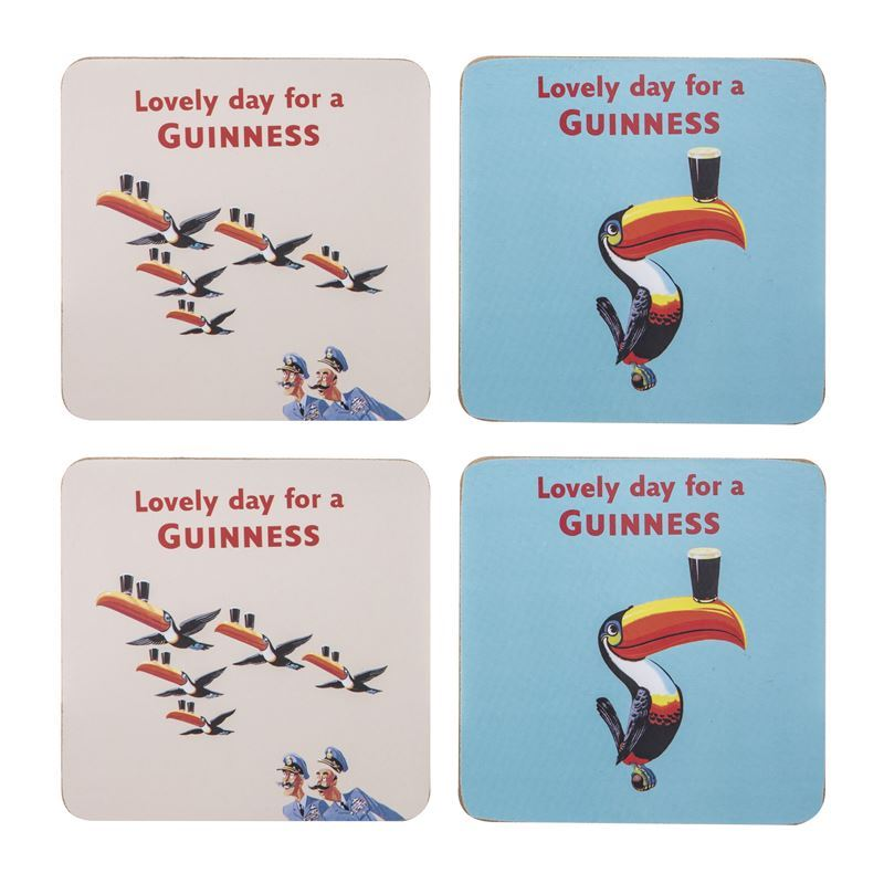 Guinness – Gilroy Cork Backed Coasters set of 4