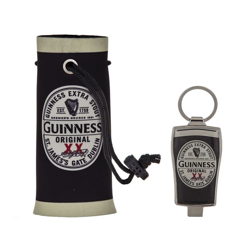 Guinness – Original Label Can/Bottle Cooler and Bottle Opener Gift Set