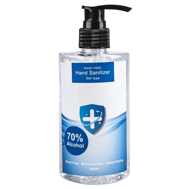 Wash Free – 70% Alcohol Gel Hand Sanitiser 300ml