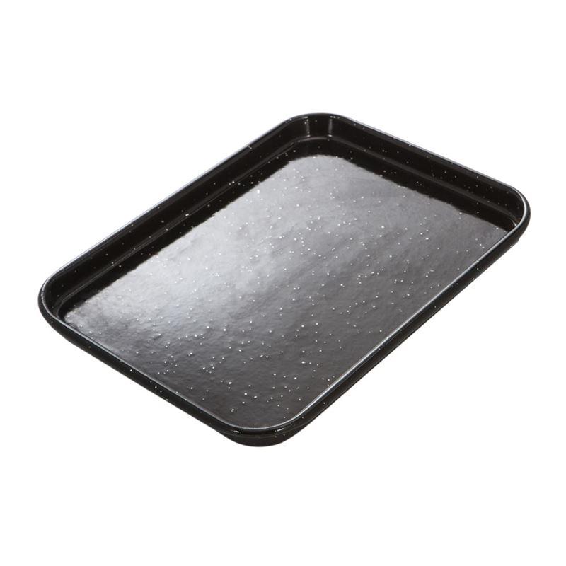Masterpro – Professional Vitreous Enamel Baking Tray 23×16.5×1.5cm