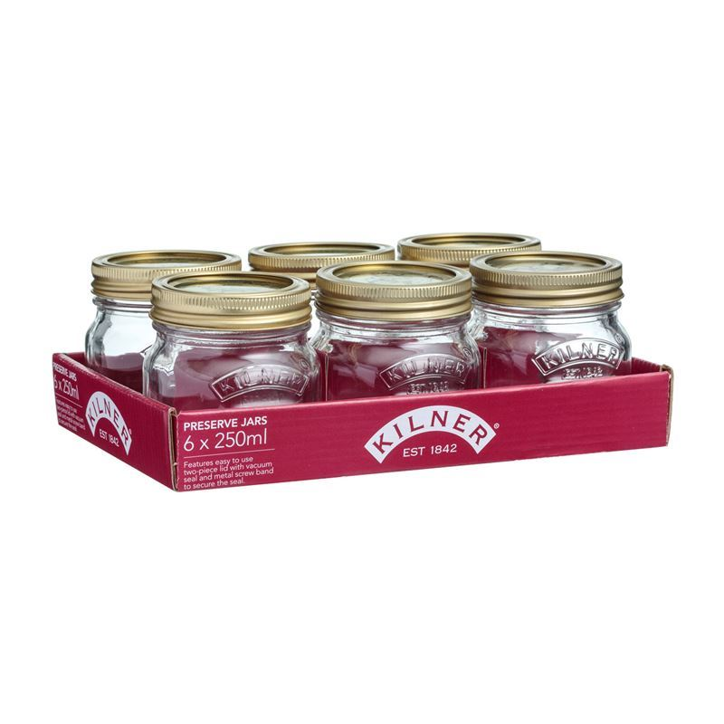 Kilner – Geniune Preserving Jar 250ml Set of 6