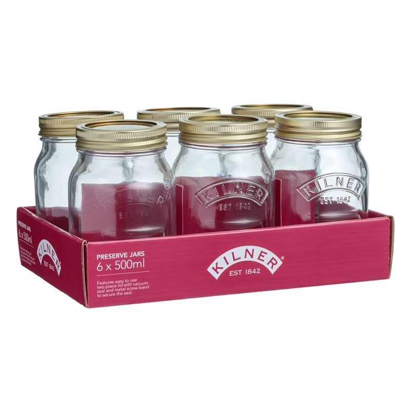 Kilner – Genuine Preserving Jar 500ml Set of 6