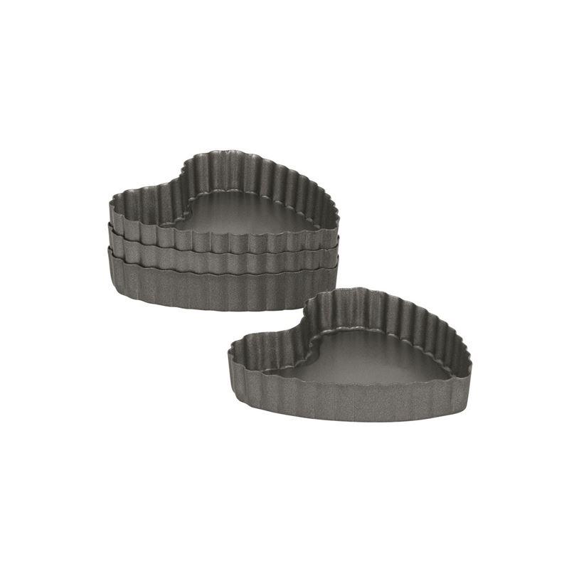 International Bakeware Company – Non-Stick Mini Heart Pan 10x2cm Set of 4