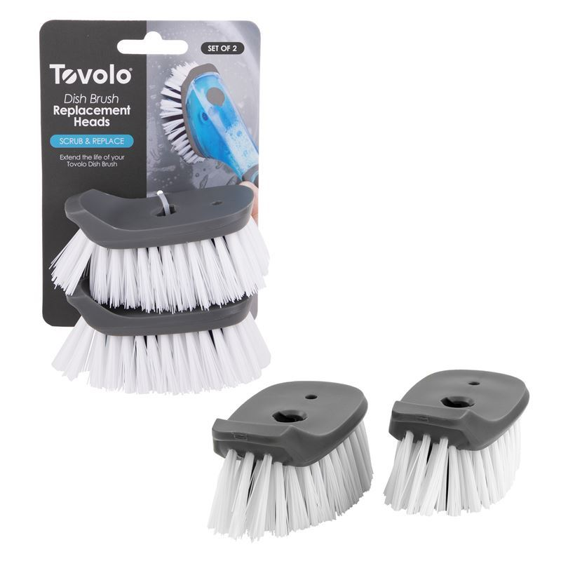 Tovolo – Soap Dispensing Brush REPLACEMENT Head Set of 2