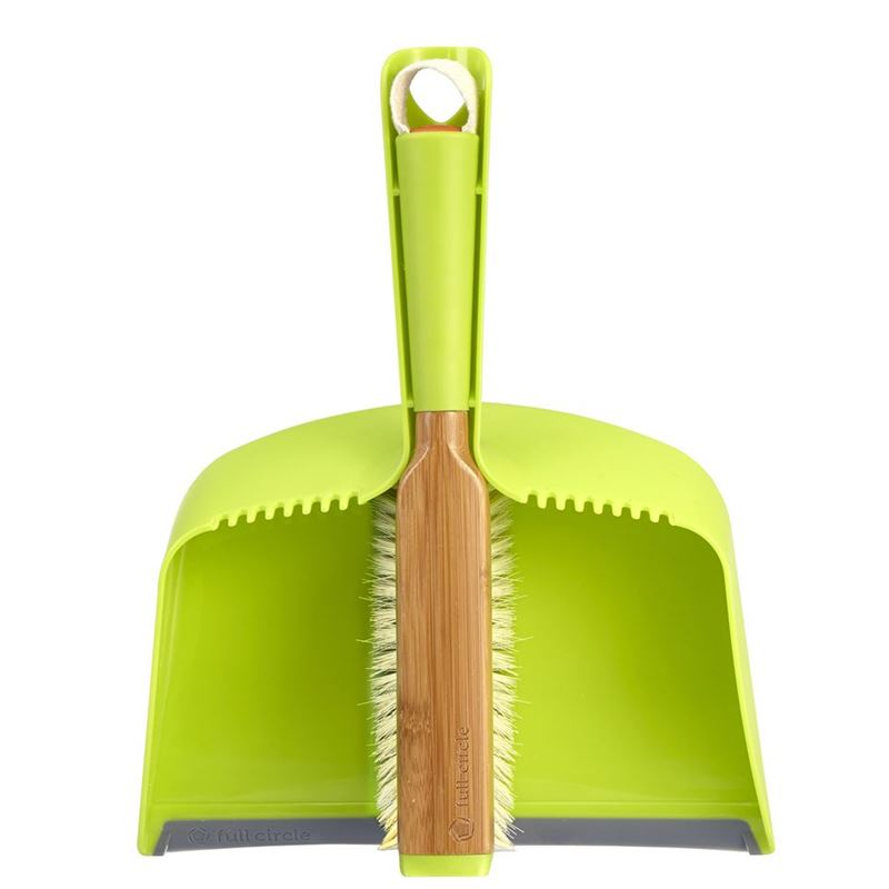 Full Circle – Clean Team Dustpan and Brush Set Green