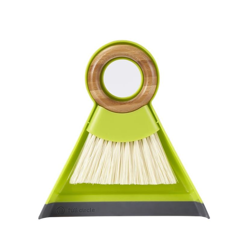 Full Circle – Tiny Team Mini Dustpan and Brush Set Green