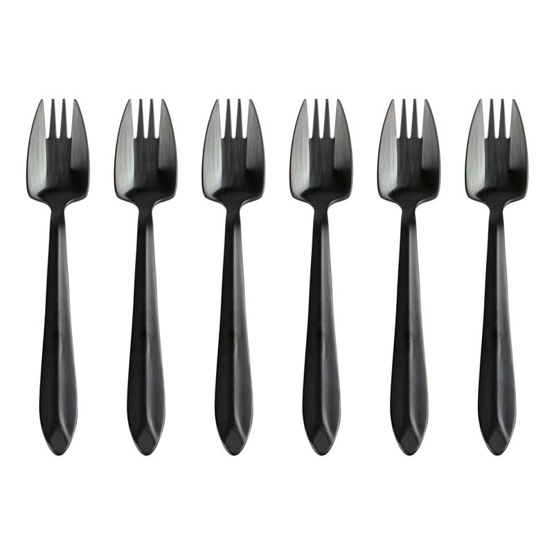 Splayd – Luxury Stainless Steel Matte Black Finish Set of 6