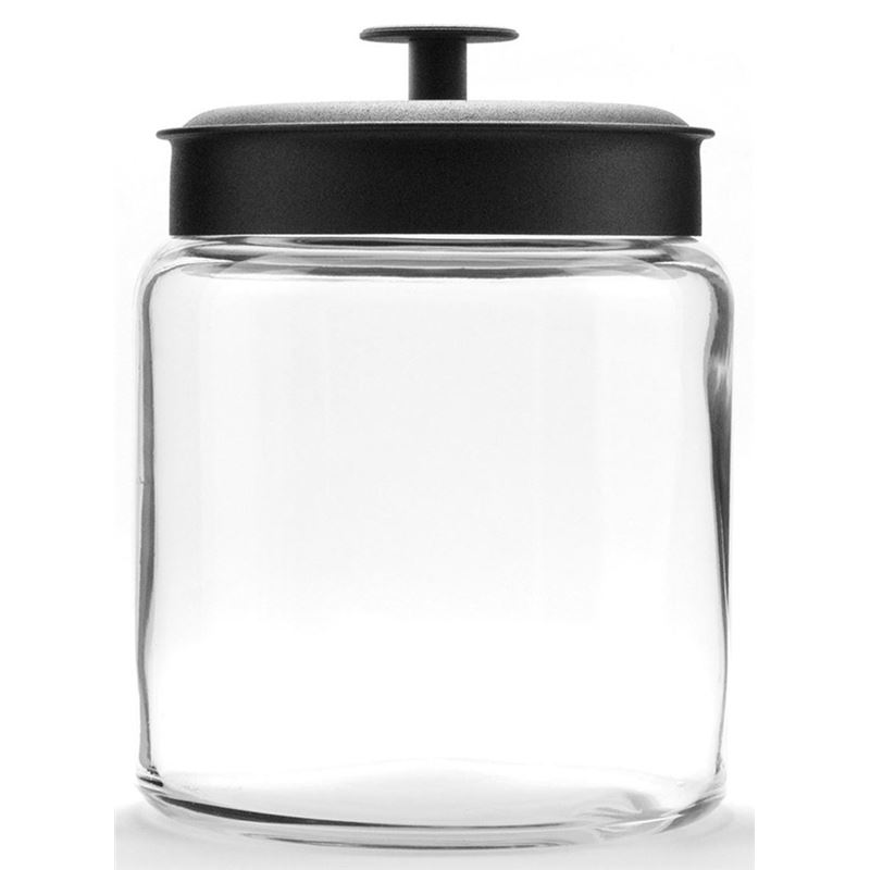 Anchor Hocking – Montana Jar with Black Lid 18x15cm 1.9Ltr