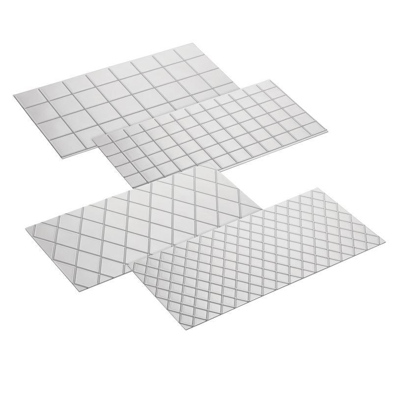 Cake Boss – Acrylic Fondant Imprint Mat Quilt Set of 4