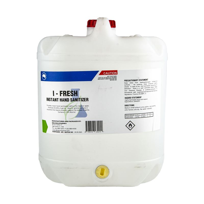 I-fresh – Instant Hand Sanitiser 20Ltr REFILL (Made in Australia) – Delivery to Mainland Australia Only