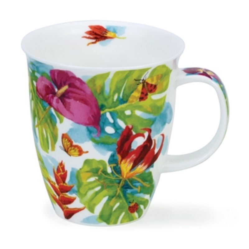 Dunoon – Nevis Bone China Mug 480ml Tropicana Red Lily (Made in England)