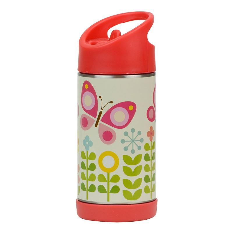 Petit Collage – Vacuum Insulated Stainless Steel Water Bottle 350ml Butterflies