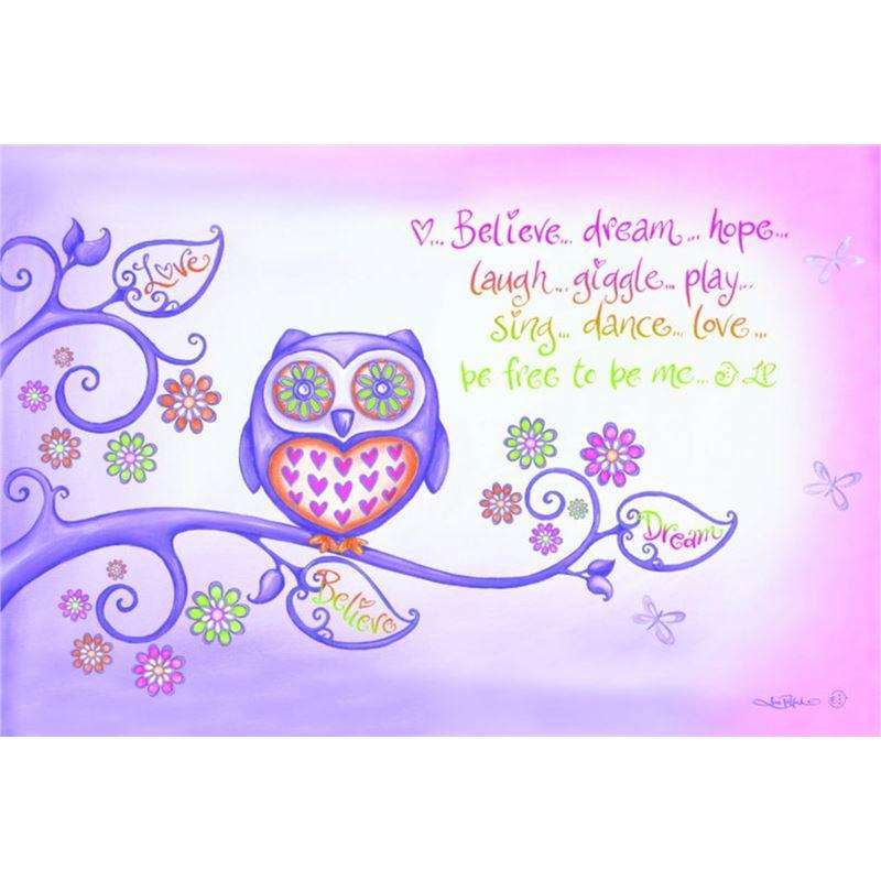 Cinnamon – Purple Owl PVC Placemat
