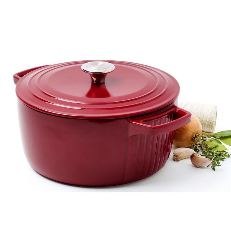 KitchenAid – Cast Iron 23cm Casserole Red 3.8Ltr
