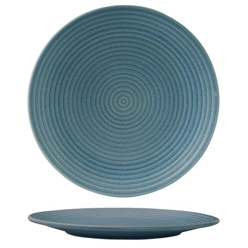 Zuma – Commercial Grade Denim Dinner Ribbed Plate 26.5cm