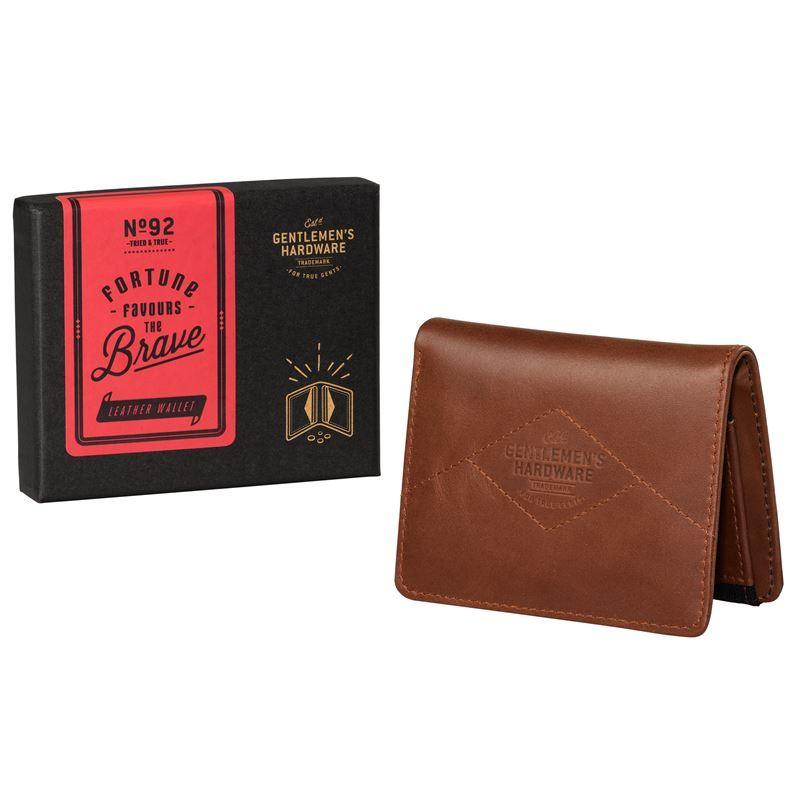 Gentleman's Hardware – Tan Leather & Black Canvas Wallet