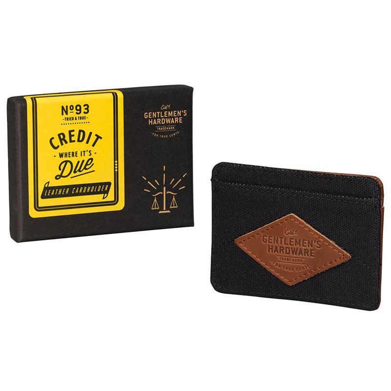 Gentleman's Hardware – Charcoal Canvas Card Holder