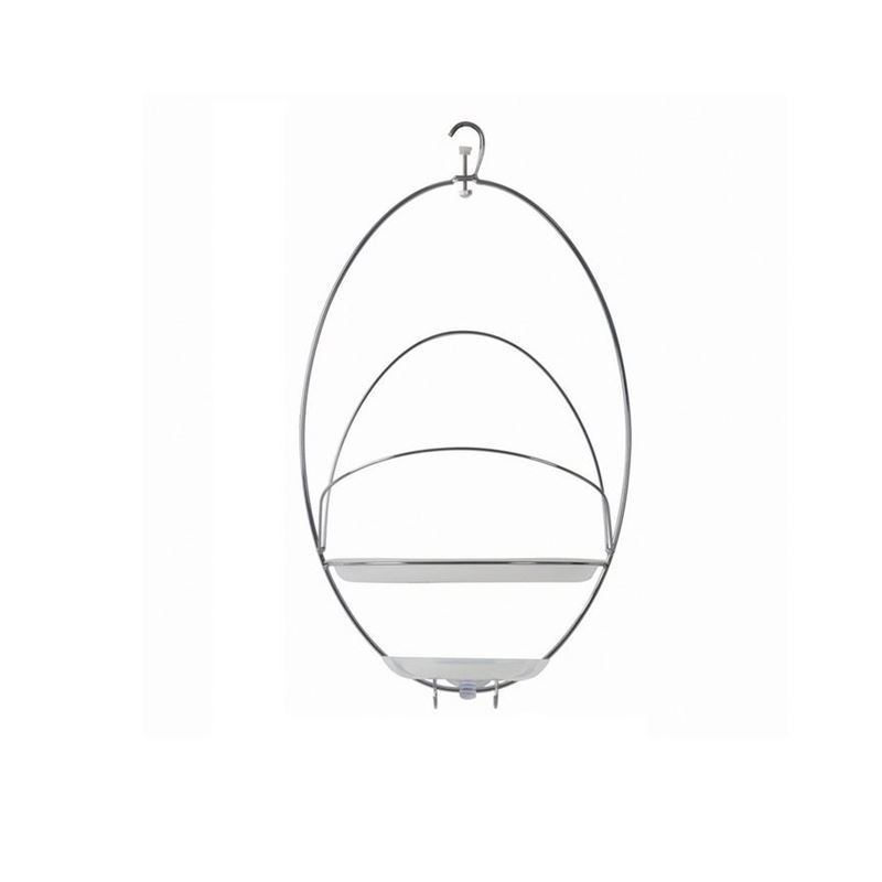 Umbra – Rings Shower Caddy Chrome with White Basket
