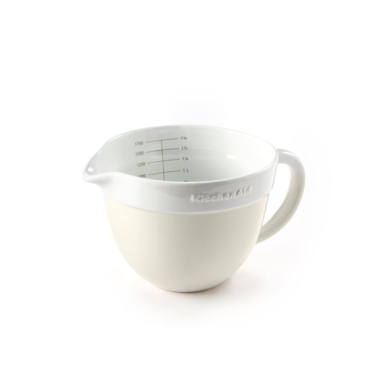 KitchenAid – Almond Cream Premium Porcelain 17cm Mixing Jug Bowl 1.9Ltr Gift Boxed