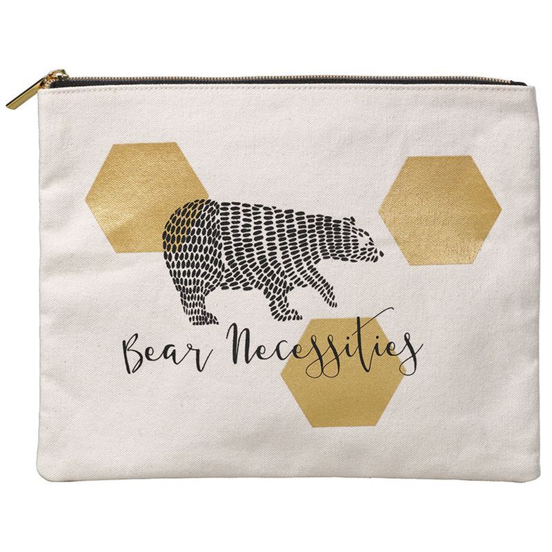 Folklore – Large Zippered Pouch Bear Necessities